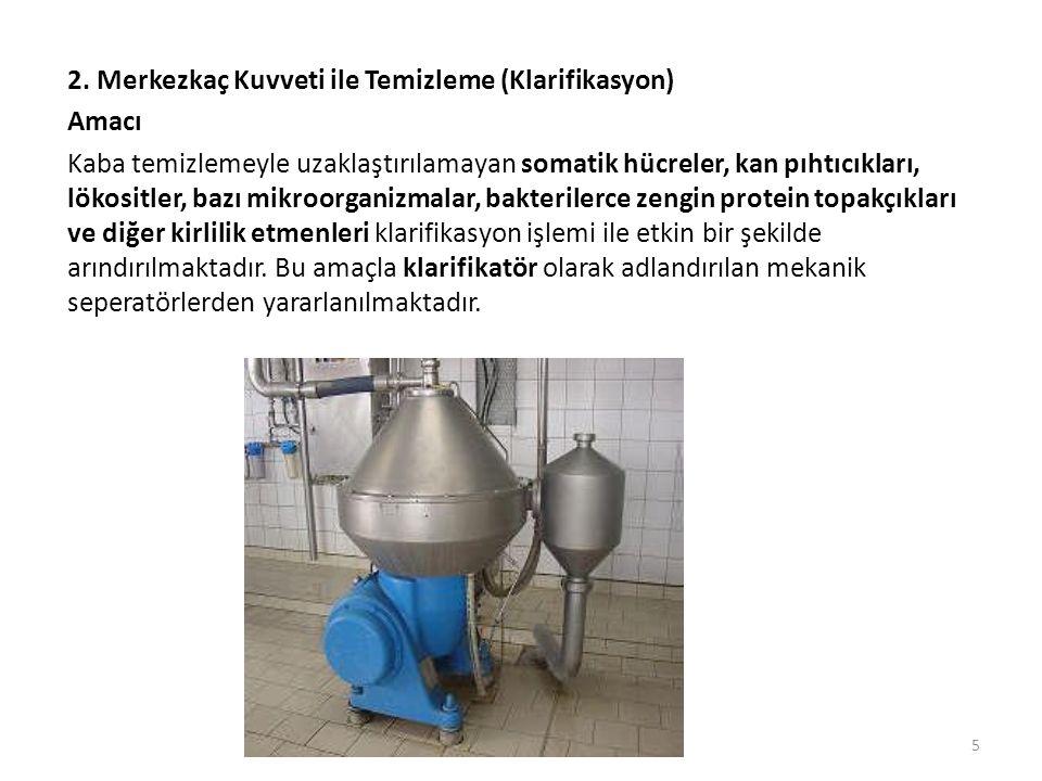 Ayırma işlemi aşağıda verilen basamaklar doğrultusunda gerçekleşmektedir:  Süt öncelikle ön ısıtmaya tabi tutulur.