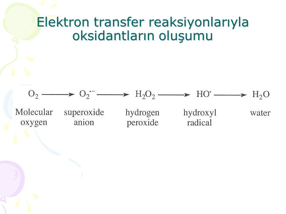 Elektron transfer reaksiyonlarıyla oksidantların oluşumu