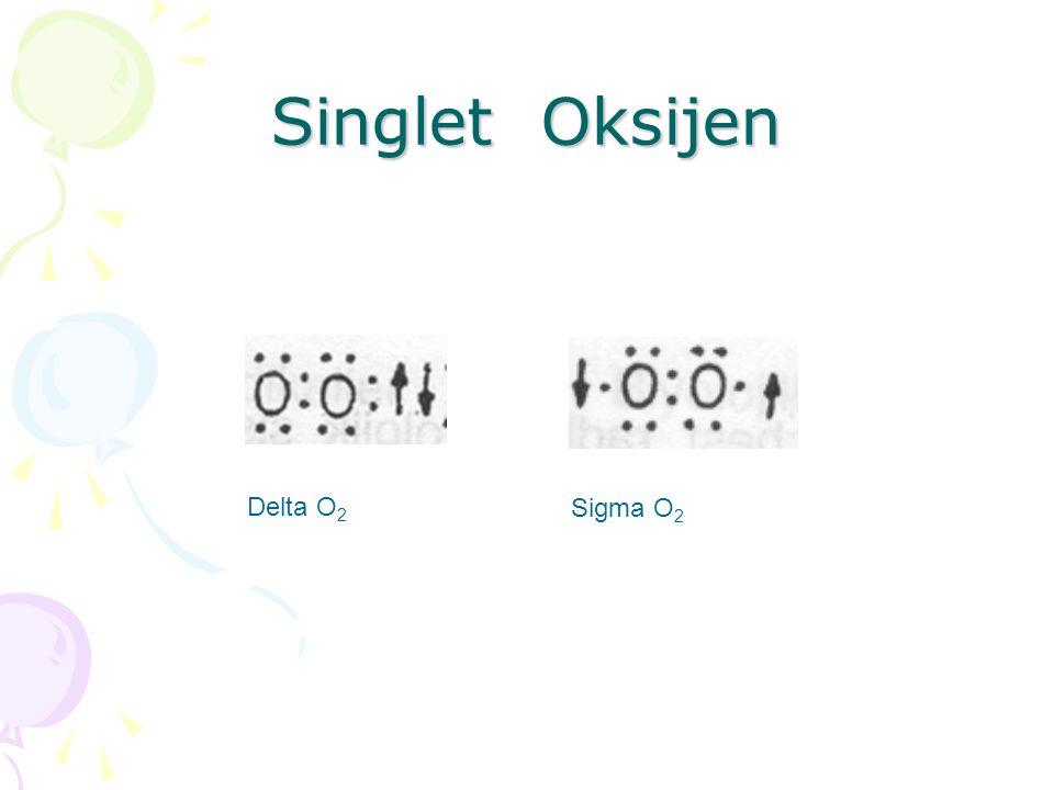 Singlet Oksijen Delta O 2 Sigma O 2