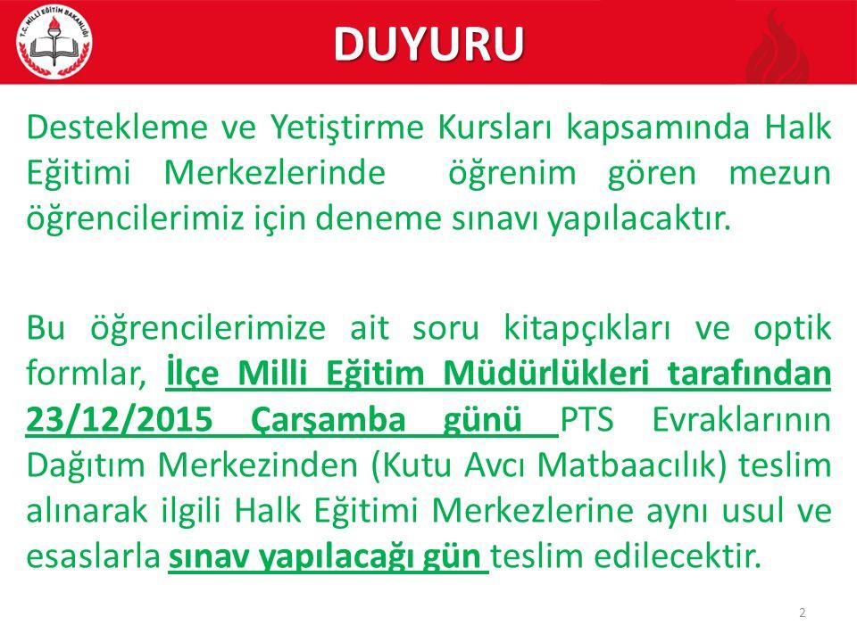 5.KURSLARA ÖĞRENCİ/KURSİYER BAŞVURULARI 5.1.