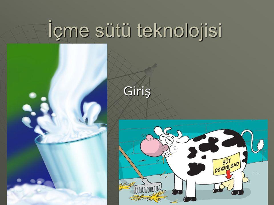 İçme sütü teknolojisi Giriş