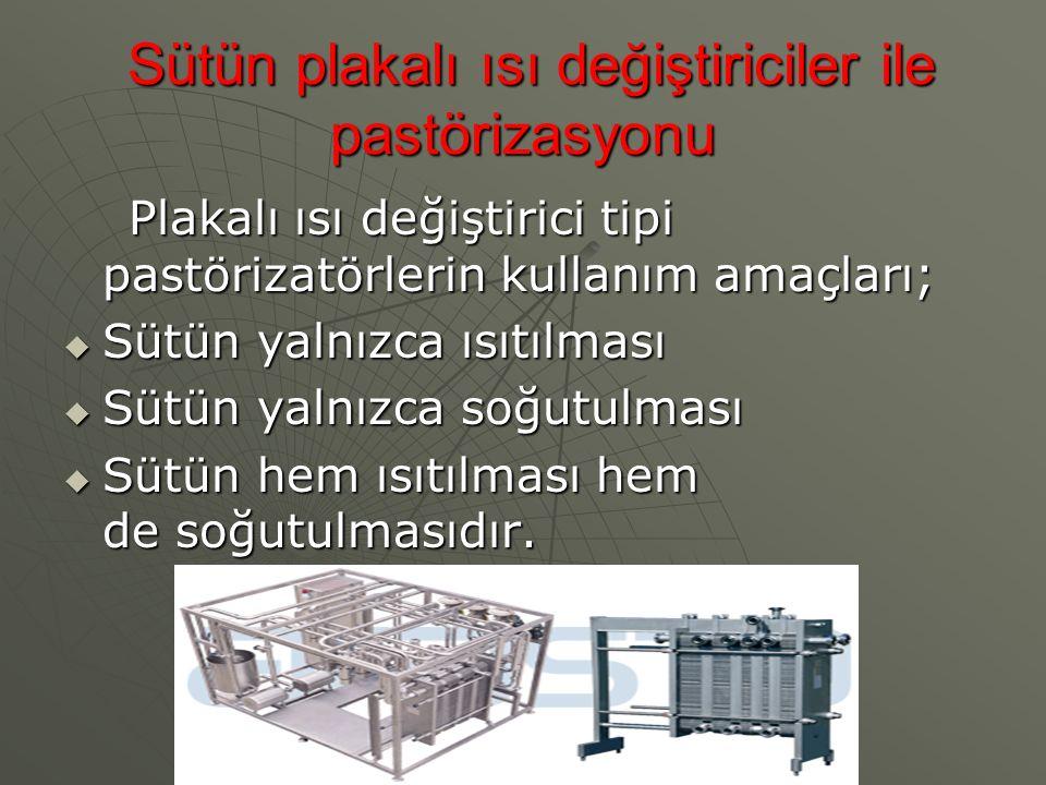 Sütün plakalı ısı değiştiriciler ile pastörizasyonu Sütün plakalı ısı değiştiriciler ile pastörizasyonu Plakalı ısı değiştirici tipi pastörizatörlerin