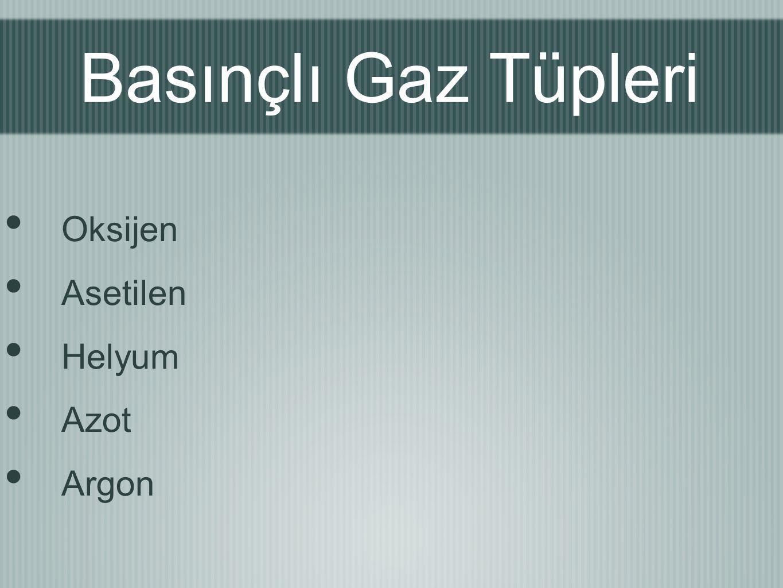 Basınçlı Gaz Tüpleri Oksijen Asetilen Helyum Azot Argon