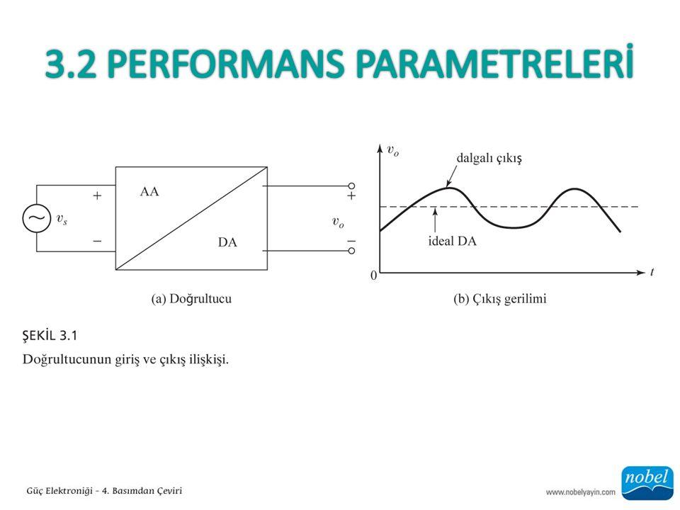 Bölüm 3.2'nin Önemli Noktaları Belirli parametreler ile ölçülen doğrultucunun performansı yetersizdir.