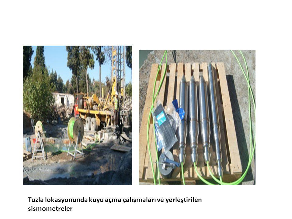 Tuzla lokasyonunda kuyu açma çalışmaları ve yerleştirilen sismometreler