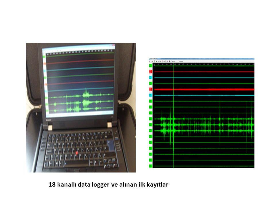 18 kanallı data logger ve alınan ilk kayıtlar