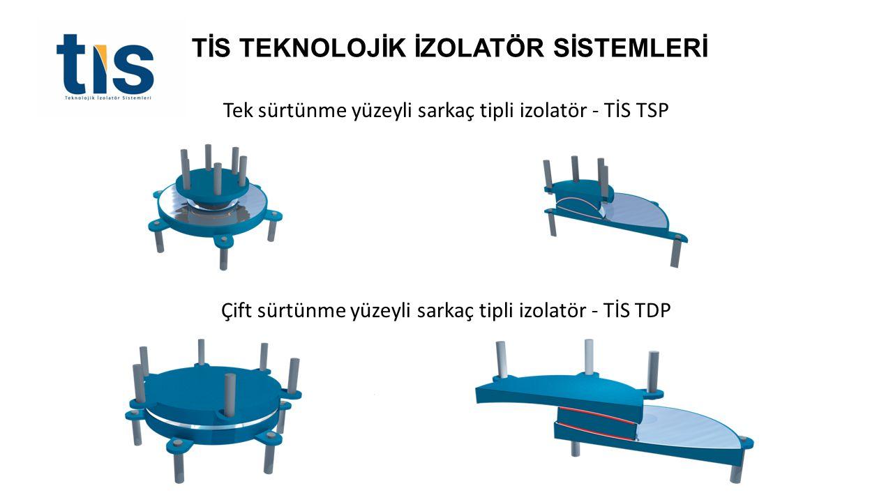Tek sürtünme yüzeyli sarkaç tipli izolatör - TİS TSP Çift sürtünme yüzeyli sarkaç tipli izolatör - TİS TDP TİS TEKNOLOJİK İZOLATÖR SİSTEMLERİ
