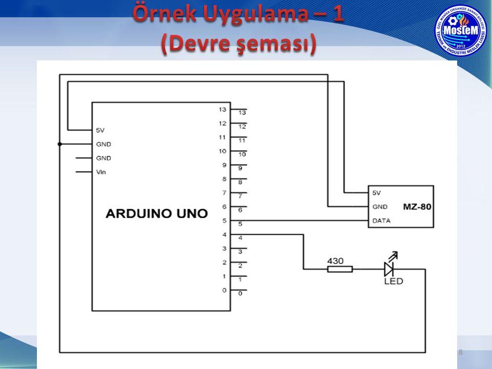 9 5 nolu pindeki sensör dış dünyadan, arduino'ya bir bilgi gönderdiği için giriş elemanıdır.
