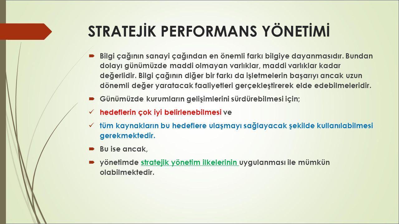STRATEJİK PERFORMANS YÖNETİMİ  Planlama, yönetim sürecinin ilk aşamasını oluşturan en önemli yönetim fonksiyonudur.