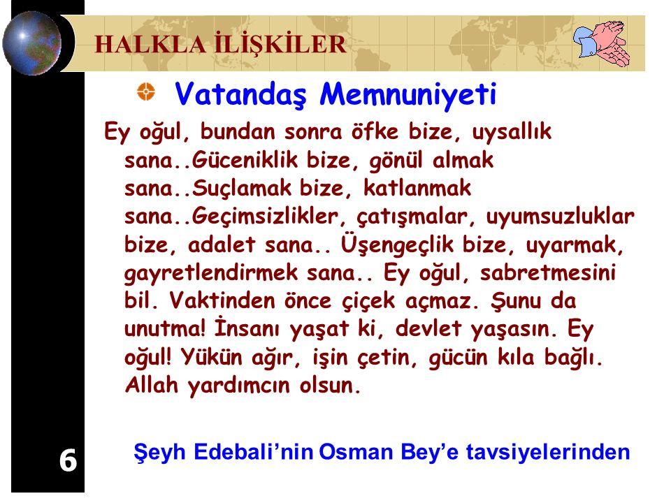 47 İyi yönetici, kibarlıkta da liderdir. Günaydın. Hayırlı sabahlar, Osman Bey. İLETİŞİM