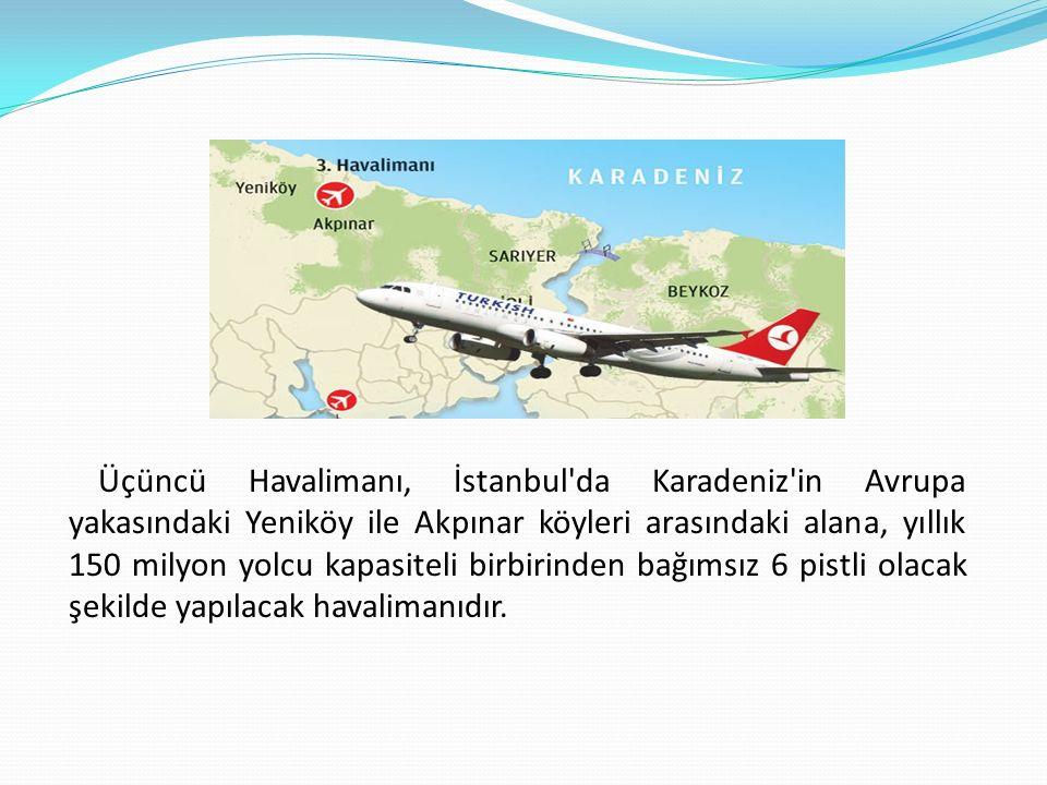 Projenin Gerekçesi İstanbul un mevcut Atatürk ve Sabiha Gökçen Havalimanlarının artan kapasite taleplerine cevap verememesi bu projenin başlıca gerekliliklerinden biridir.