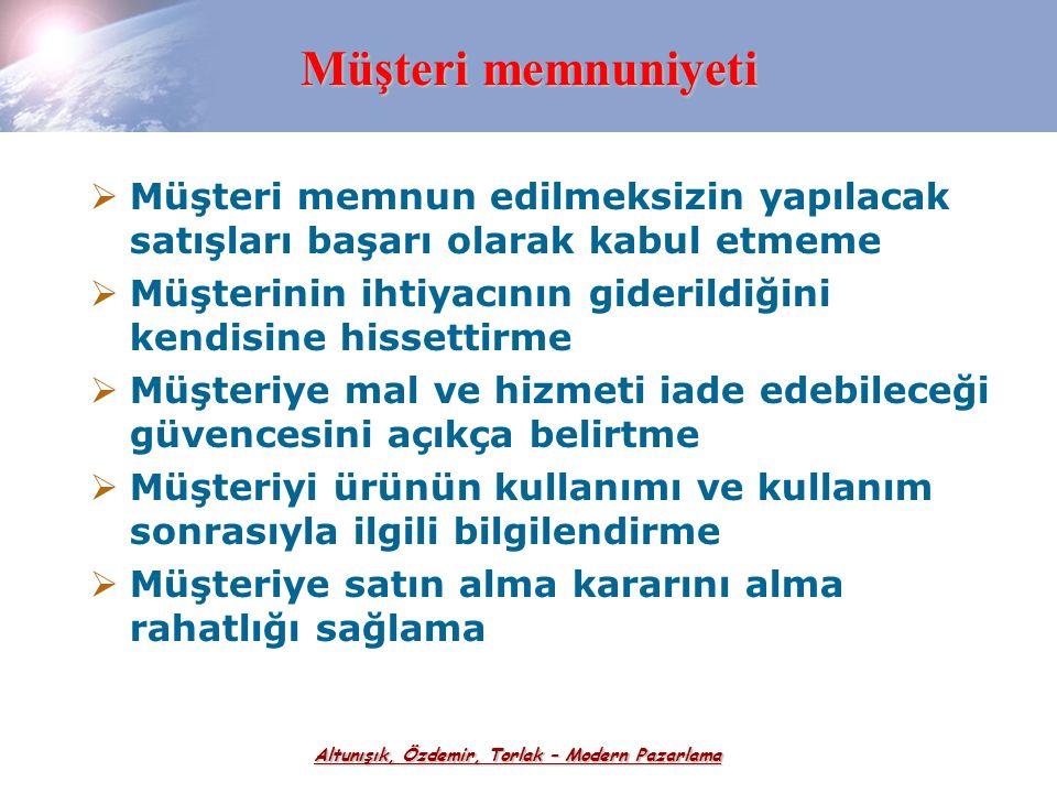 Altunışık, Özdemir, Torlak – Modern Pazarlama Kişisel Satış ve Satış Yönetimi
