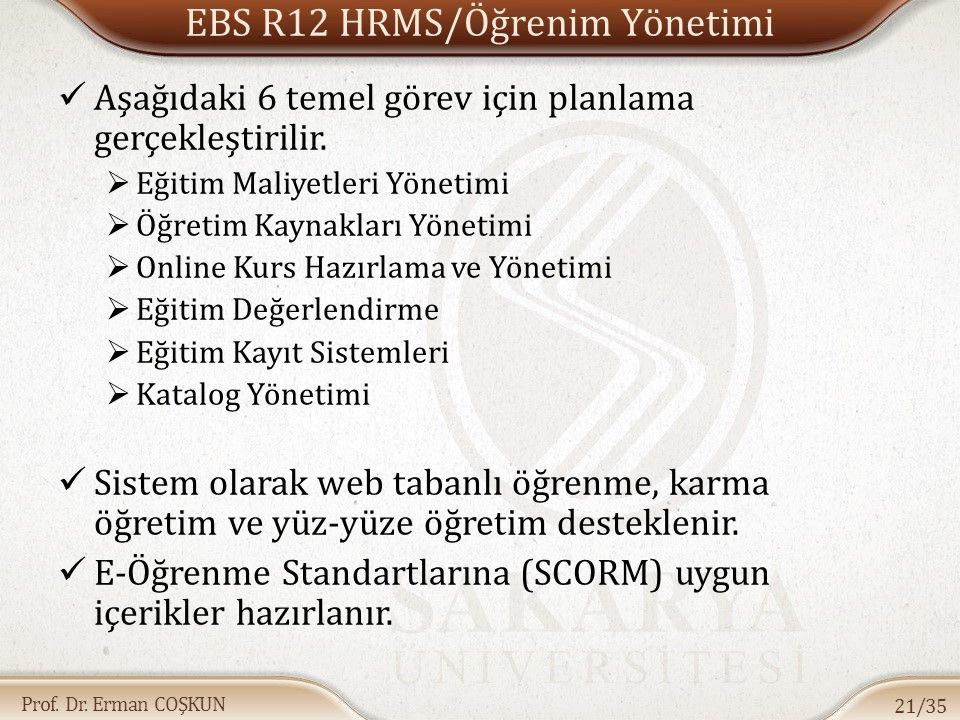 Prof. Dr. Erman COŞKUN Aşağıdaki 6 temel görev için planlama gerçekleştirilir.  Eğitim Maliyetleri Yönetimi  Öğretim Kaynakları Yönetimi  Online Ku