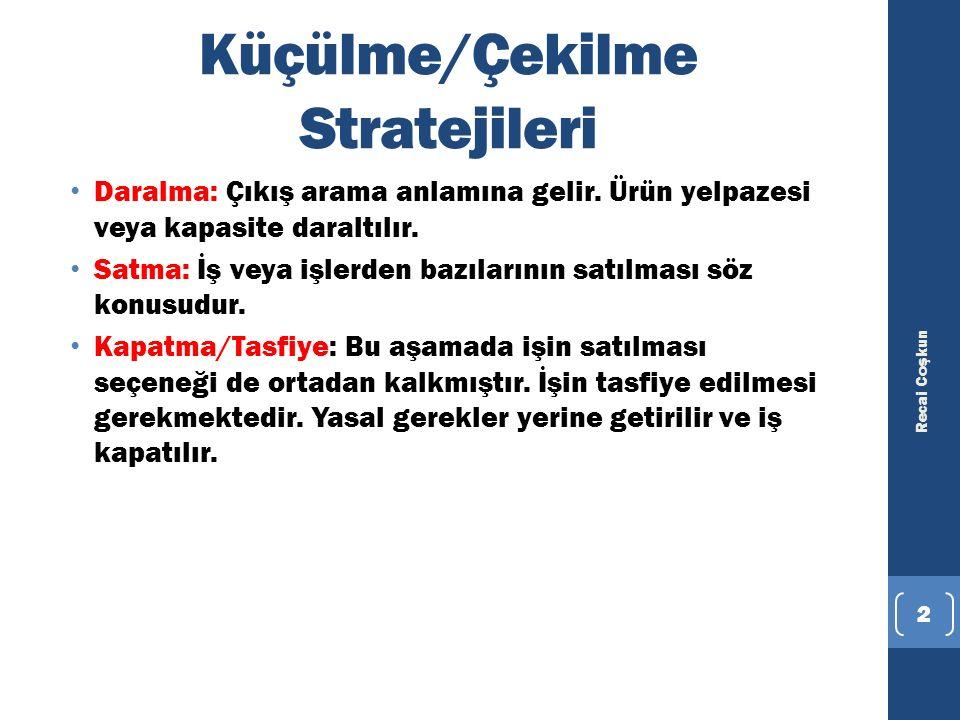 ÖRNEK:YILDIZ HOLDİNG MARİNADAN ÇEKİLDİ Yıldız Holding, sahibi olduğu İstanbul City Port, Göcek Village Port ve Göcek Exclusive marinalarını Koç Grubu'na satarak sektörden çekildi.