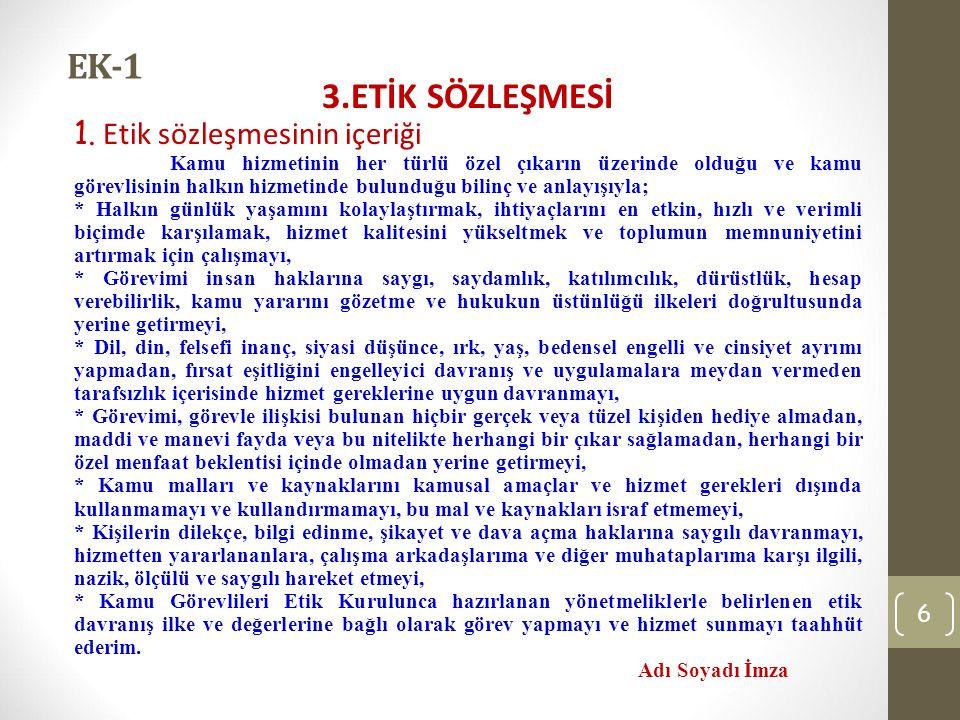 EK-1 3.ETİK SÖZLEŞMESİ 1.