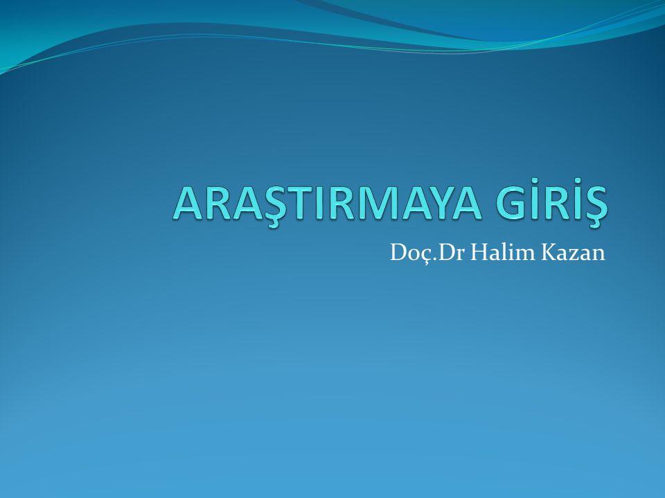 Doç.Dr Halim Kazan