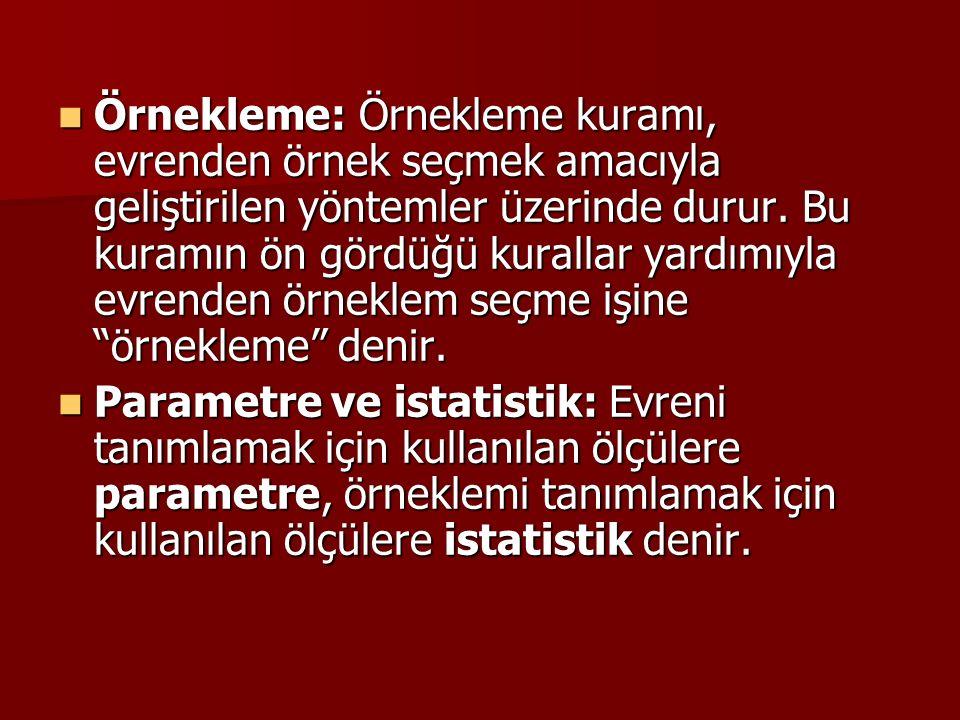 DEĞİŞİK TABLO ÖRNEKLERİ VE GRAFİKLER Tablo 3.1.
