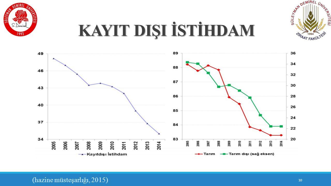 KAYIT DIŞI İSTİHDAM 10 (hazine müsteşarlığı, 2015)