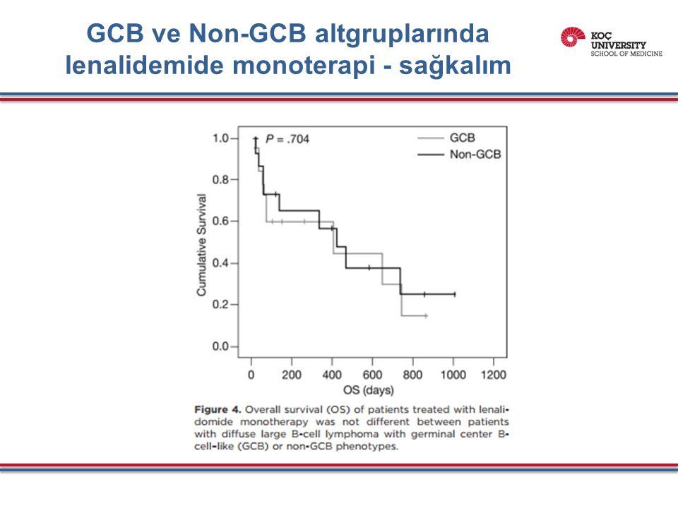 GCB ve Non-GCB altgruplarında lenalidemide monoterapi - sağkalım