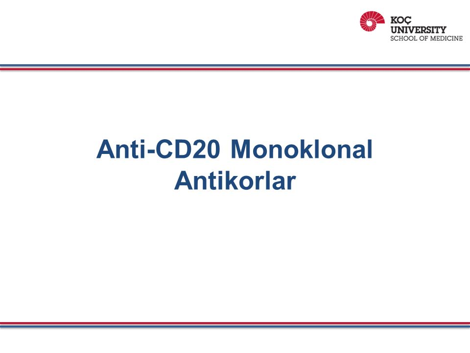 Anti-CD20 Monoklonal Antikorlar