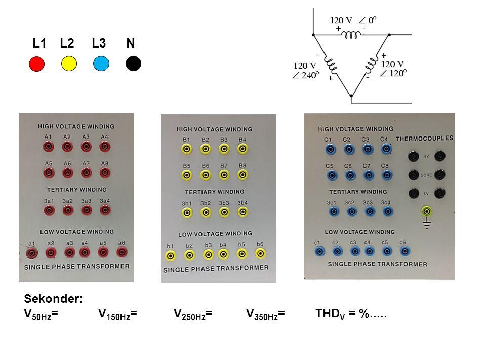 L1L2L3N Sekonder: V 50Hz = V 150Hz = V 250Hz = V 350Hz = THD V = %.....