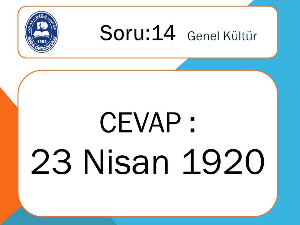 CEVAP : 23 Nisan 1920