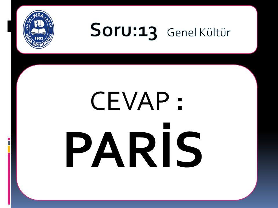CEVAP : PARİS