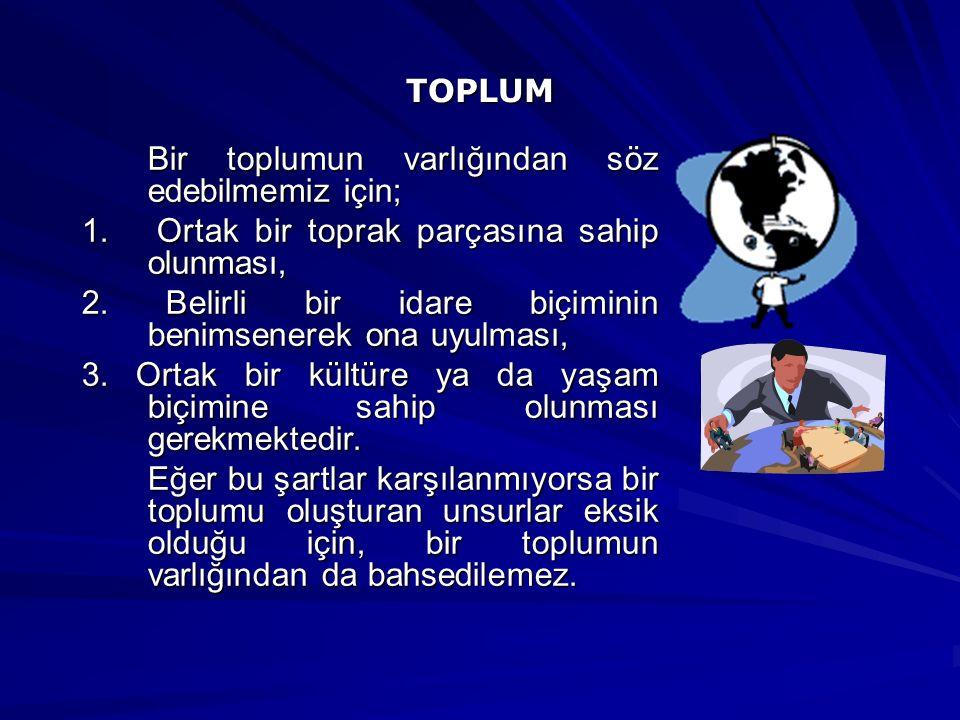 TOPLUMSAL YAPI Nasıl her organizmanın bir yapısı varsa, her toplumun da bir yapısı vardır.
