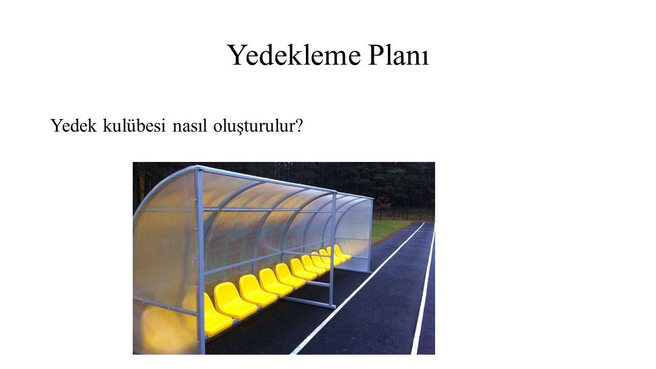 Yedekleme Planı Yedek kulübesi nasıl oluşturulur?