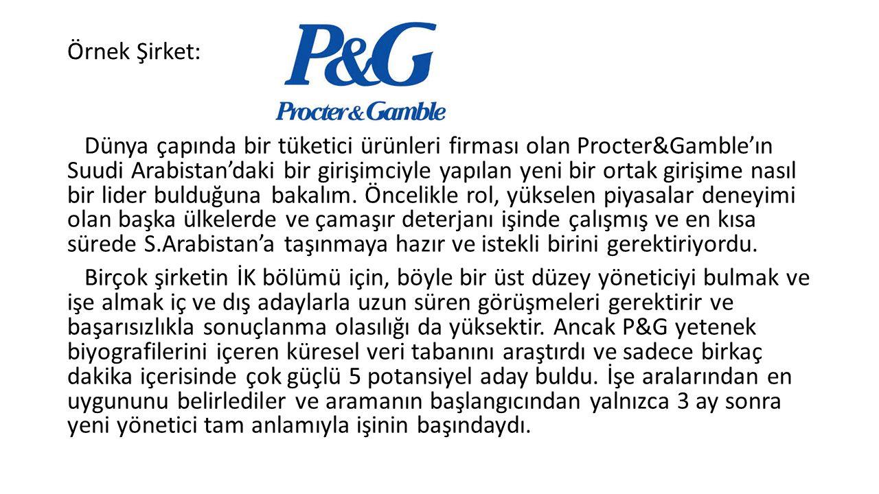 Örnek Şirket: Dünya çapında bir tüketici ürünleri firması olan Procter&Gamble'ın Suudi Arabistan'daki bir girişimciyle yapılan yeni bir ortak girişime