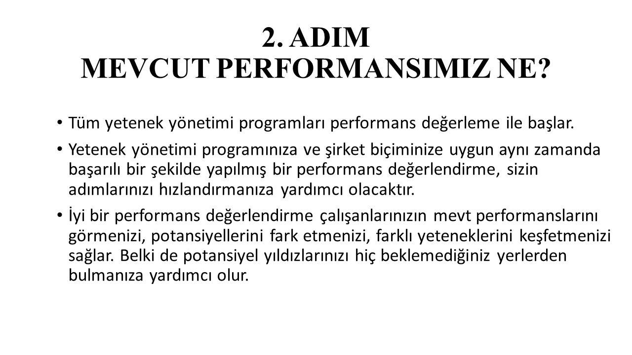 2. ADIM MEVCUT PERFORMANSIMIZ NE.