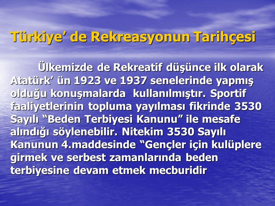 OSMANLIDAN GÜNÜMÜZE REKREASYON DEĞİŞİMİ Anadolu öncesi Türk toplumlarında, insanlar kadın erkek ayırımı yapmadan tarım ve hayvancılıkla uğraşır, savaş