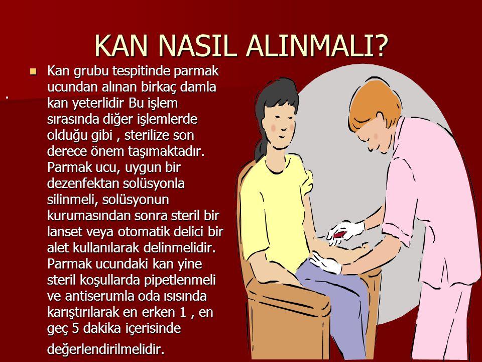 KAN NASIL ALINMALI.