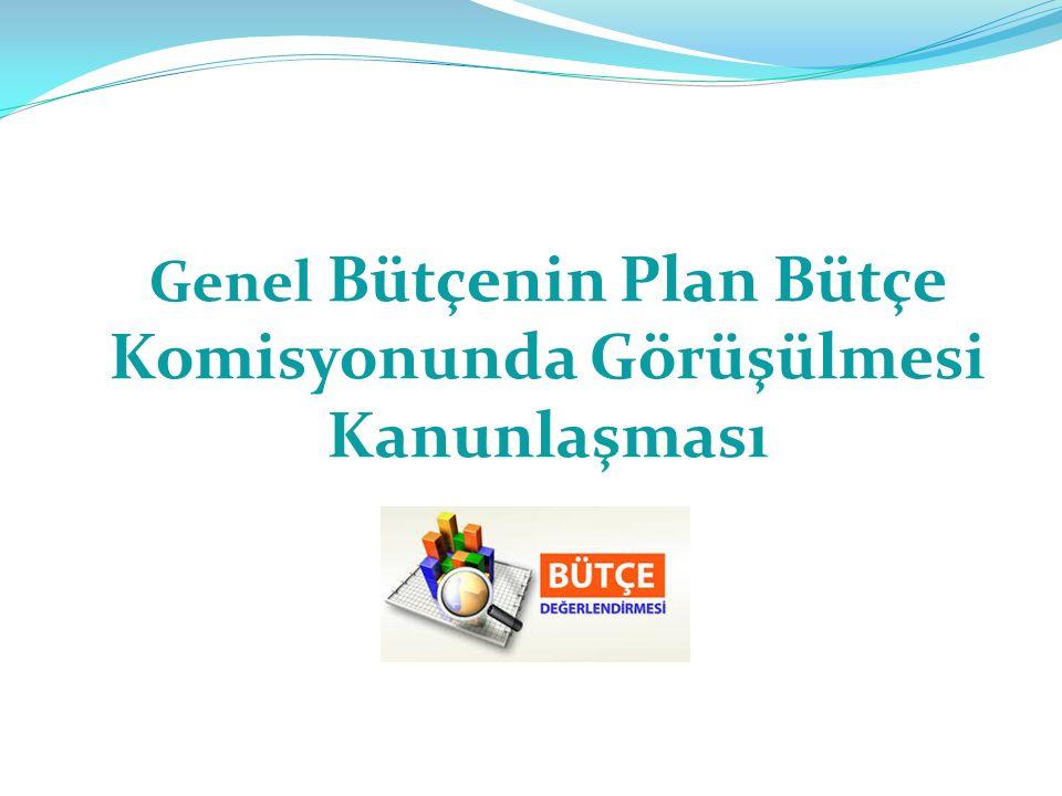 Genel Bütçenin Plan Bütçe Komisyonunda Görüşülmesi Kanunlaşması