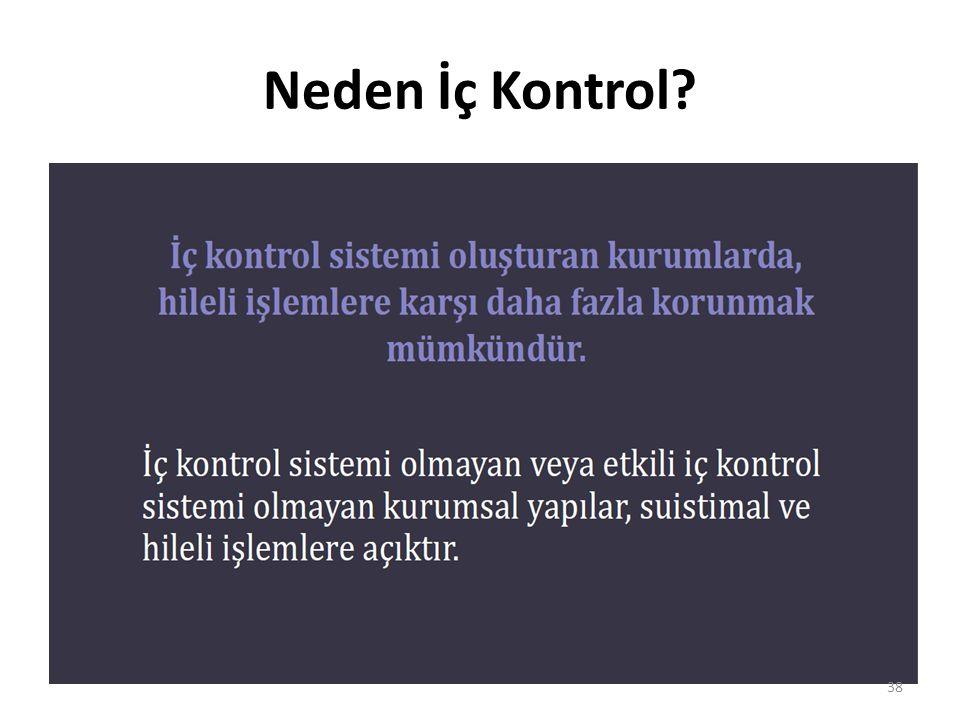 Neden İç Kontrol? 38