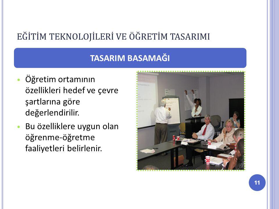 Öğretim ortamının özellikleri hedef ve çevre şartlarına göre değerlendirilir.
