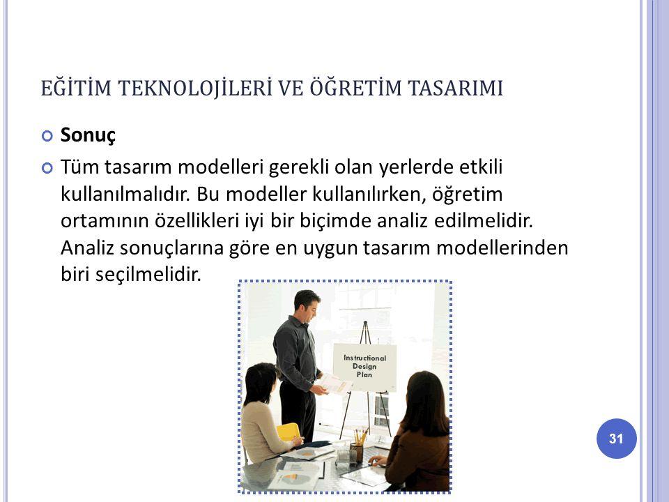 Sonuç Tüm tasarım modelleri gerekli olan yerlerde etkili kullanılmalıdır.