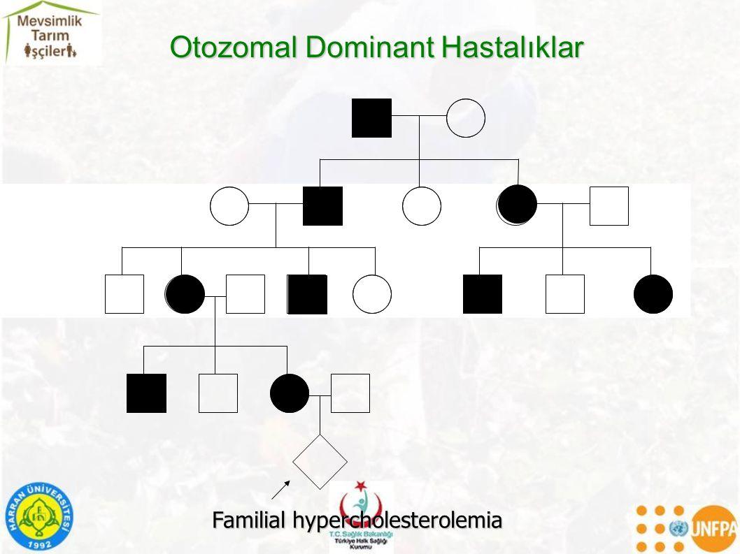 Otozomal Dominant Hastalıklar Familial hypercholesterolemia