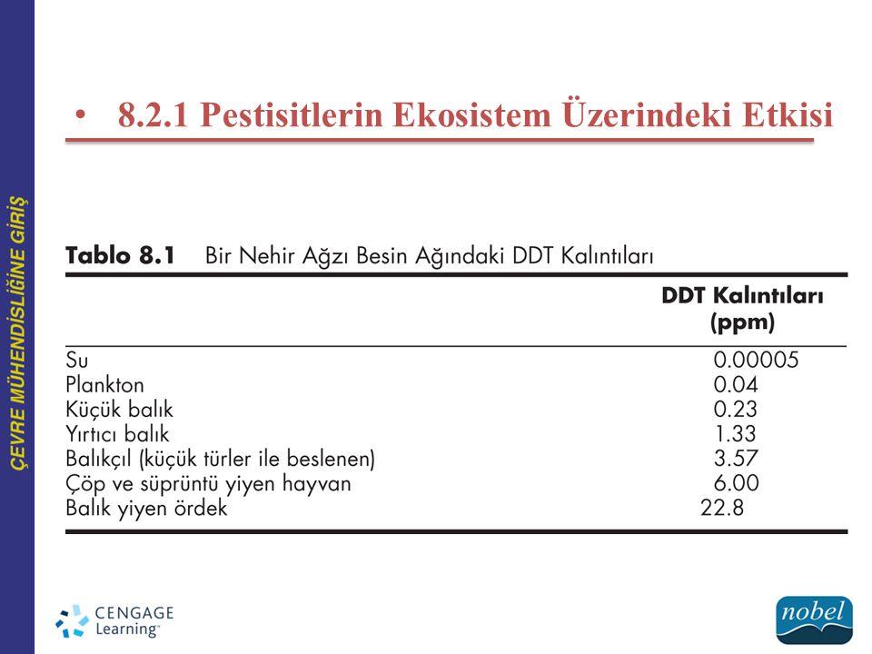 8.2.1 Pestisitlerin Ekosistem Üzerindeki Etkisi