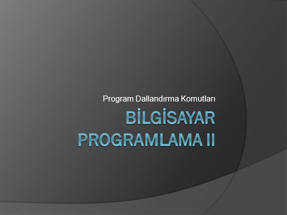 Program Dallandırma Komutları