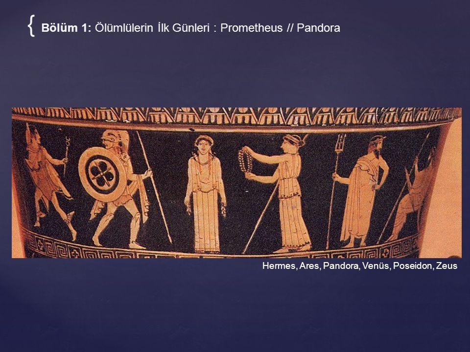 Hermes, Ares, Pandora, Venüs, Poseidon, Zeus { Bölüm 1: Ölümlülerin İlk Günleri : Prometheus // Pandora