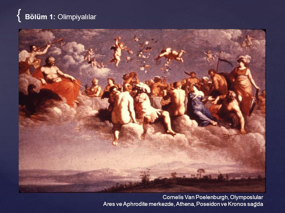 Cornelis Van Poelenburgh, Olymposlular Ares ve Aphrodite merkezde, Athena, Poseidon ve Kronos sag ̆ da { Bölüm 1: Olimpiyalılar