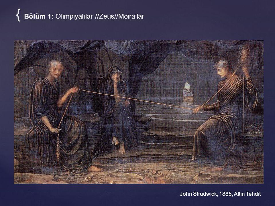 { Bölüm 1: Olimpiyalılar //Zeus//Moira'lar John Strudwick, 1885, Altın Tehdit