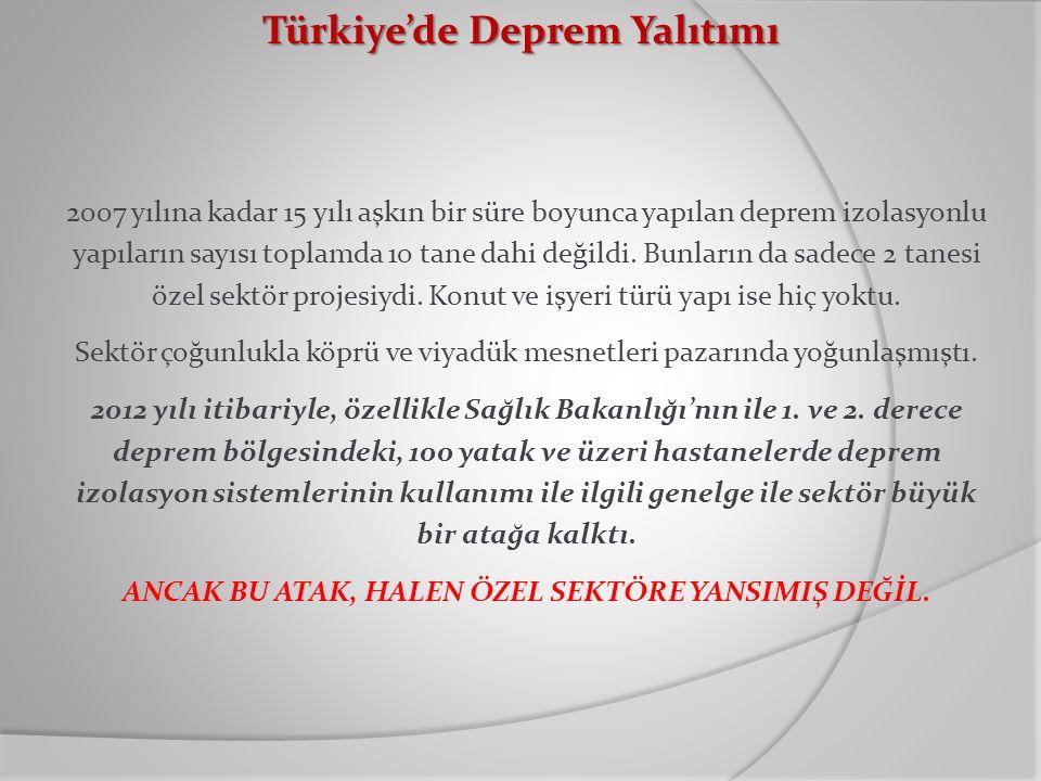 Türkiye'de Deprem Yalıtımı