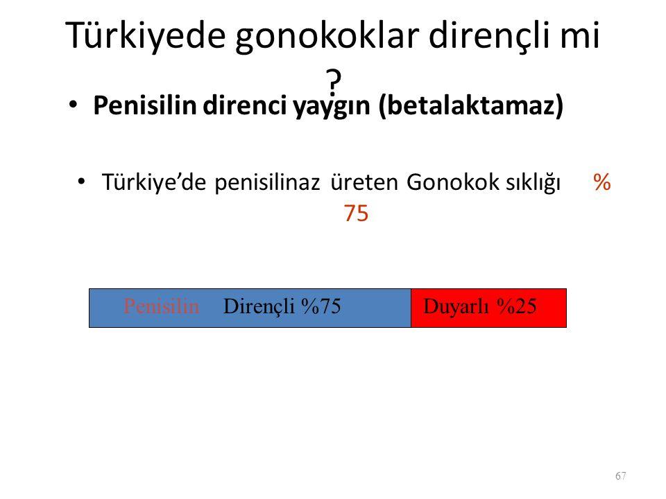 Türkiyede gonokoklar dirençli mi .