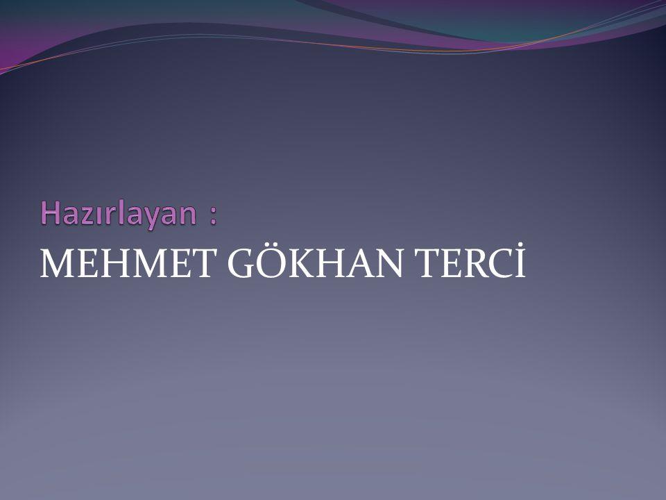MEHMET GÖKHAN TERCİ