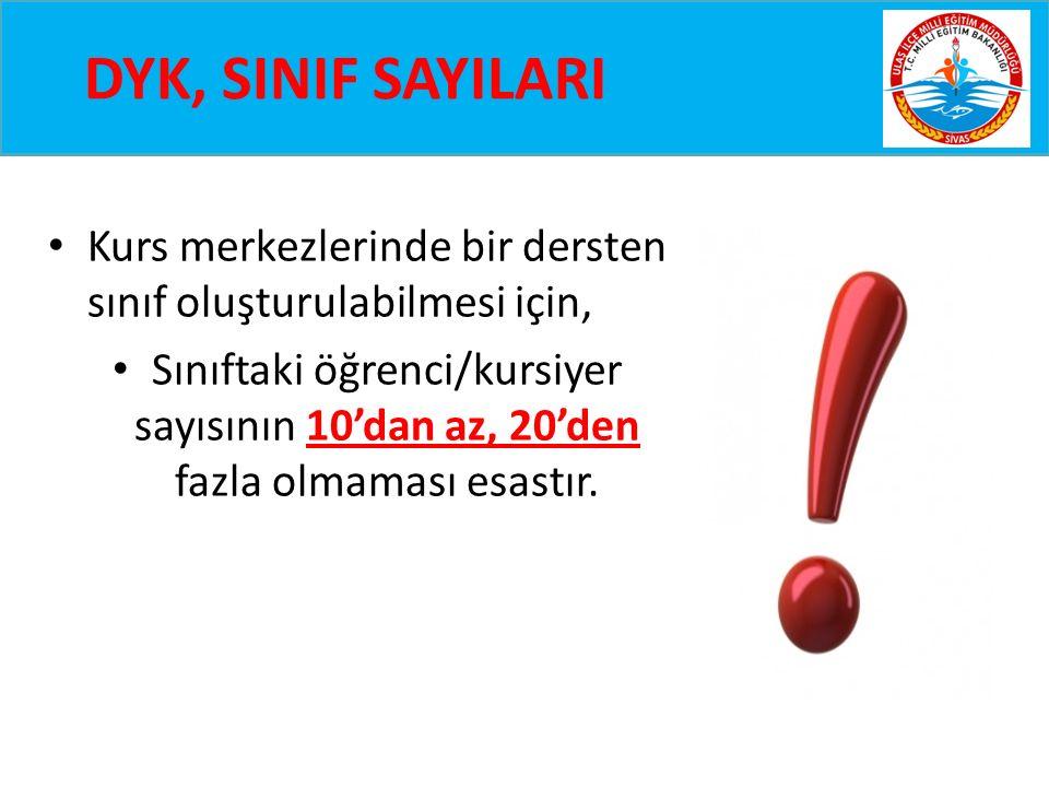 DYK, 2.DÖNEM TAKVİMİ II.