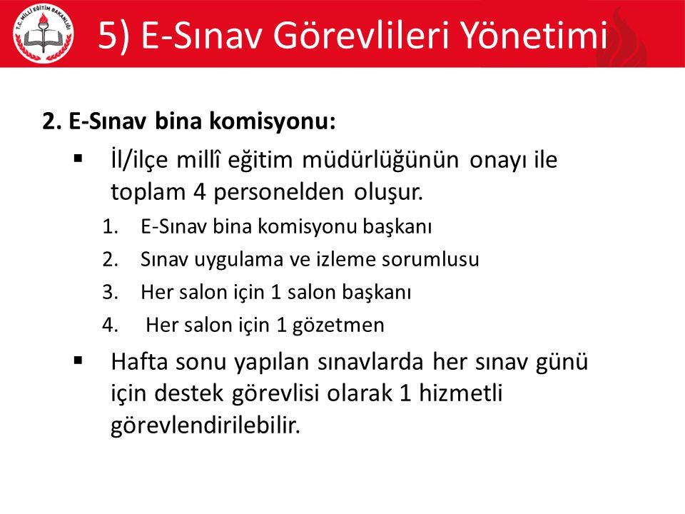 5) E-Sınav Görevlileri Yönetimi 2.