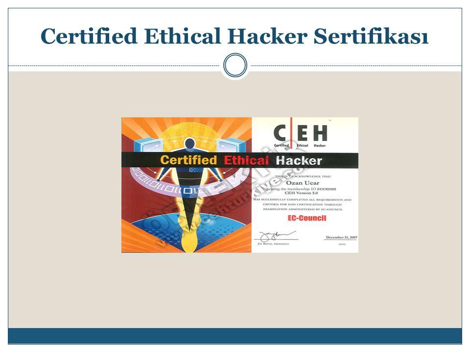 Certified Ethical Hacker Sertifikası