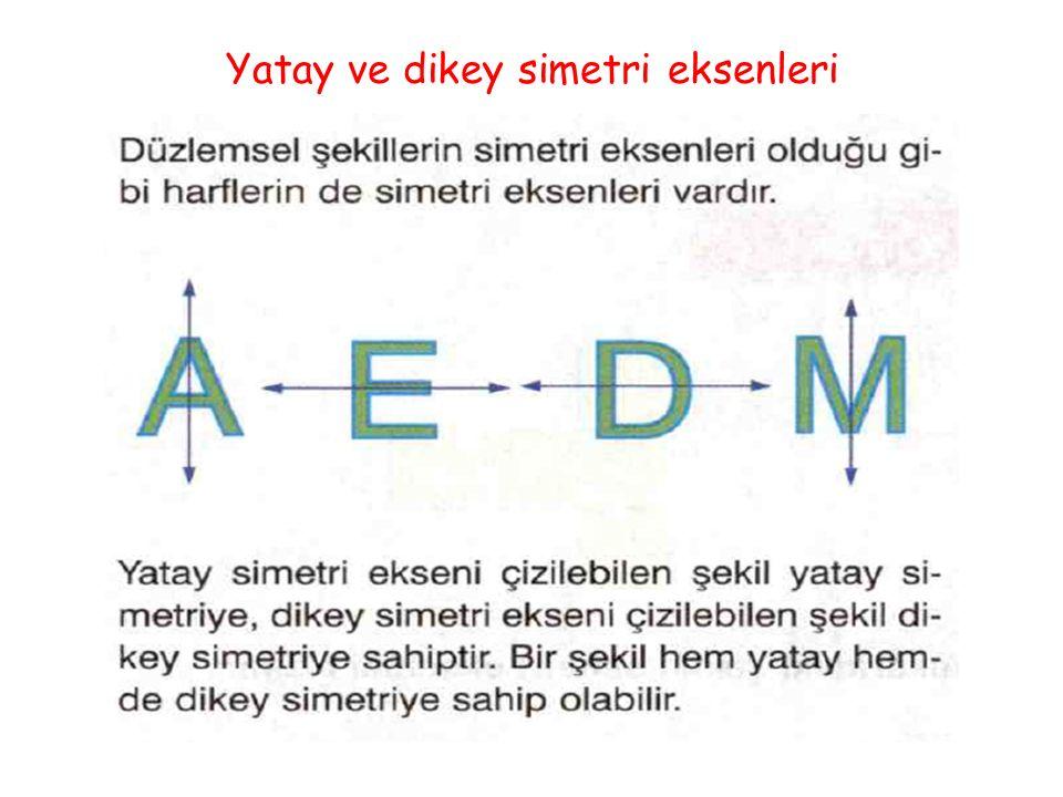 Yatay ve dikey simetri eksenleri